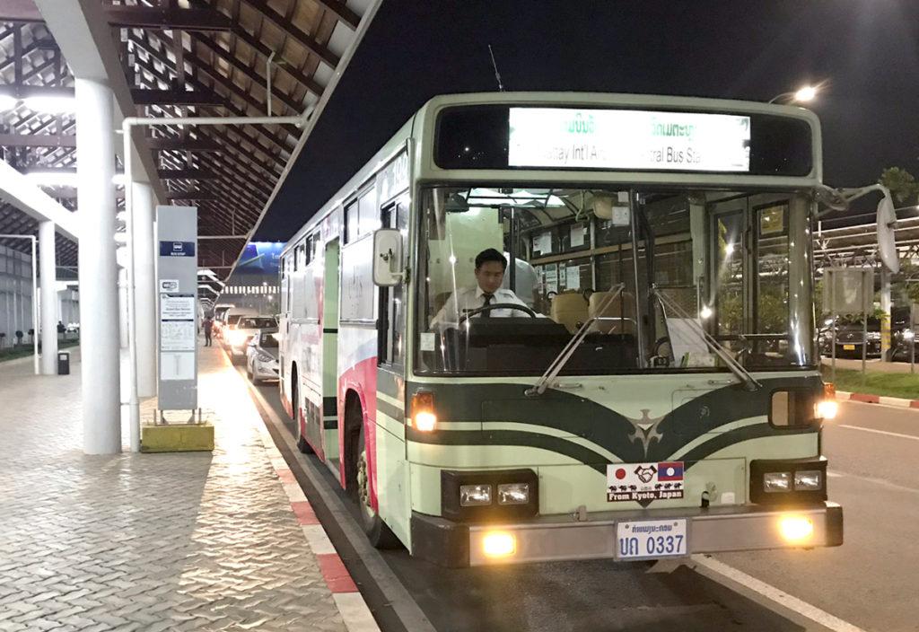 京都市から寄贈されたバスが活躍