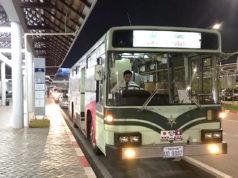 京都市から寄贈された中古バスが活躍