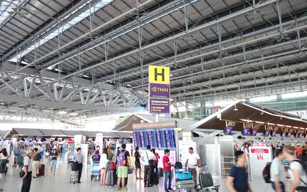 スワンナプーム国際空港出発フロア