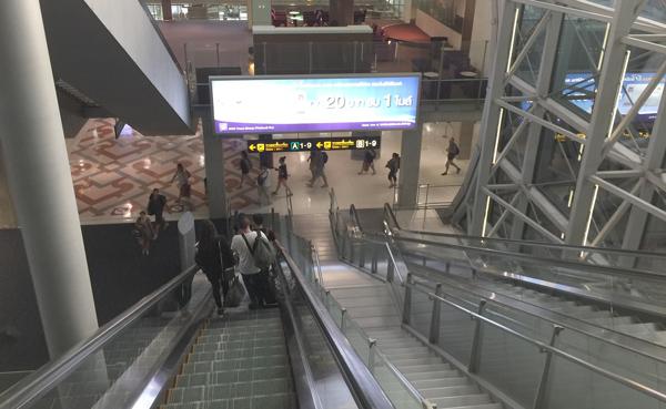 スワンナプーム空港 国内線ターミナル内