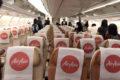 タイ・エアアジアX、座席配列2-4-2の機材 エコノミークラスの様子
