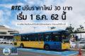 チェンマイの路線バス、12月より運賃30バーツに値上げ