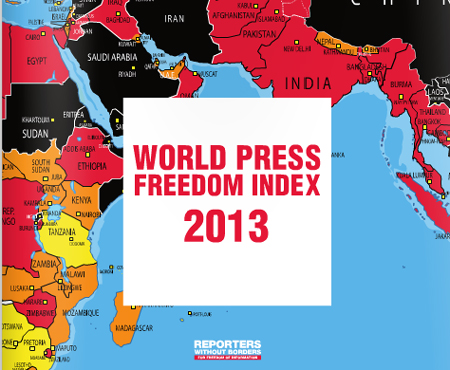 報道の自由度ランキング2013