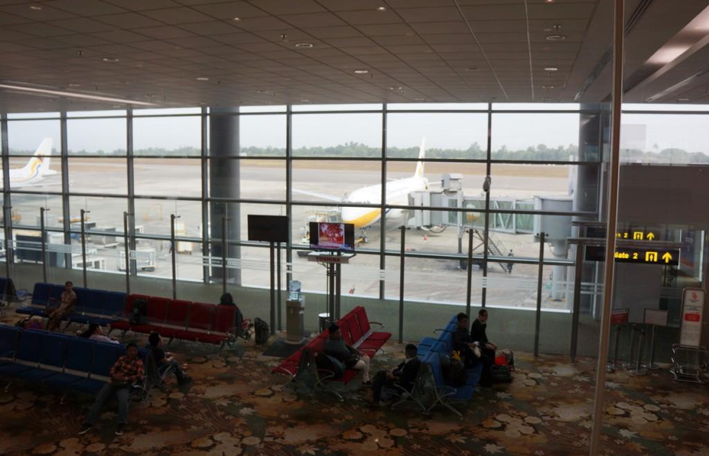 ヤンゴン国際空港の搭乗待合室