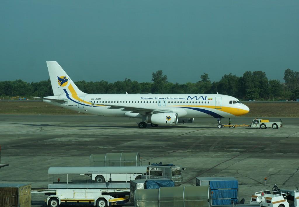 ミャンマー国際航空機