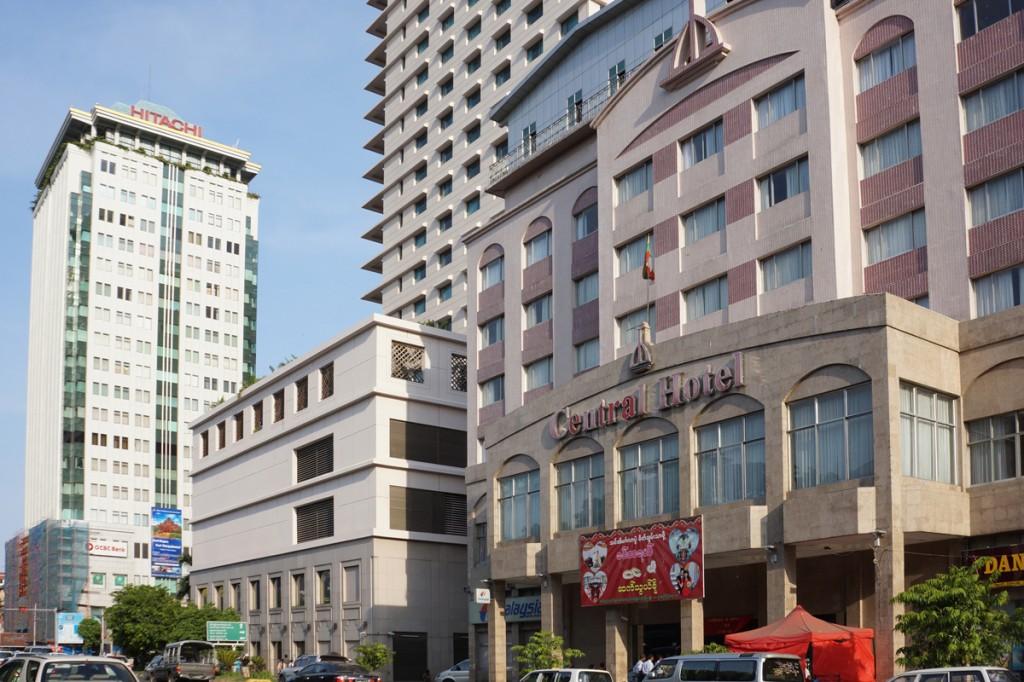 ヤンゴン・ダウンタウン中心部