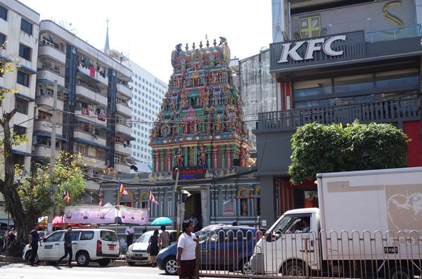 ヤンゴンのヒンドゥー寺院