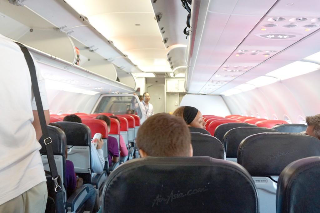 FD2752便機内の様子